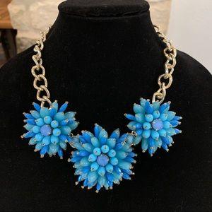 Banana Republic Blue Dahlia Flower Necklace